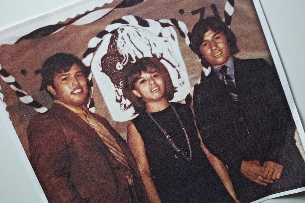 MY MOM, HIGH SCHOOL AND HER TWO BROTHERS.