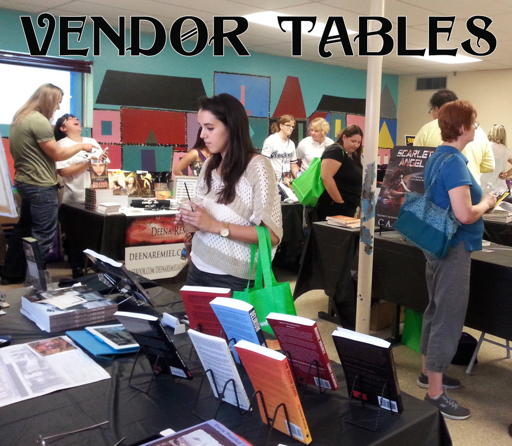 Visit vendor tables hosted by local authors and companies offering author services. RESERVE YOUR TABLE TODAY!