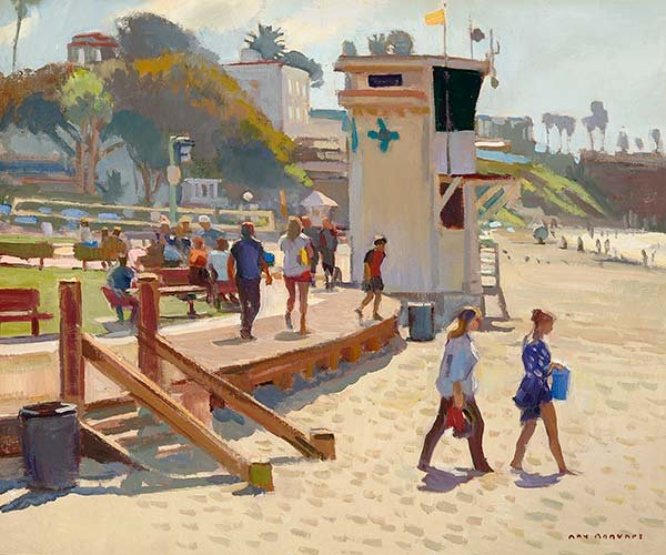"""Morning on Main Beach,"" by Ray Roberts. Best in Show. Photo by Rick Lan"