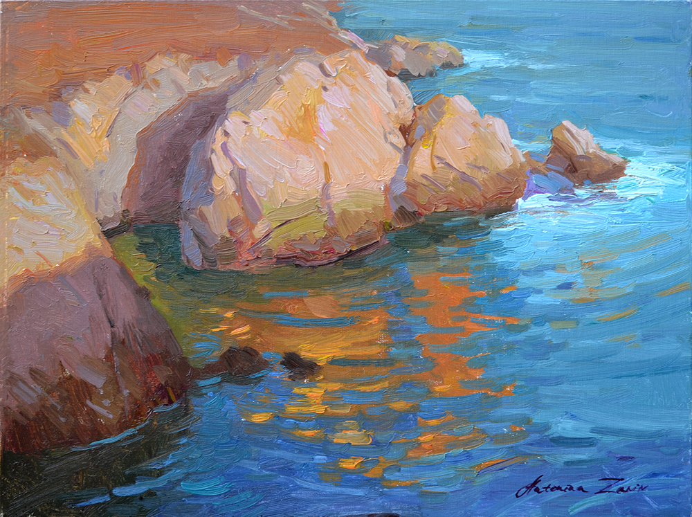 Rocky Point, 12x16, oil on linen. Plein Air painting.