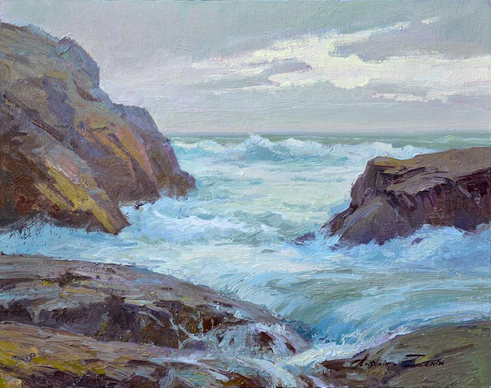 Stormy Asilomar, 16x20, oil