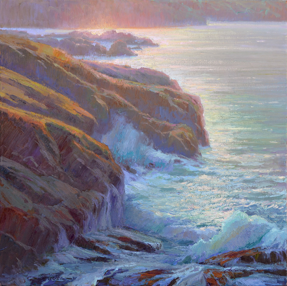 Morning at Point Lobos, 30x30