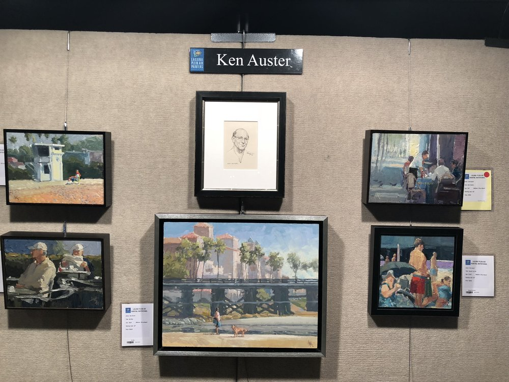 A tribute was paid to Laguna Plein Air Signature Artist & Founding Member Ken Auster