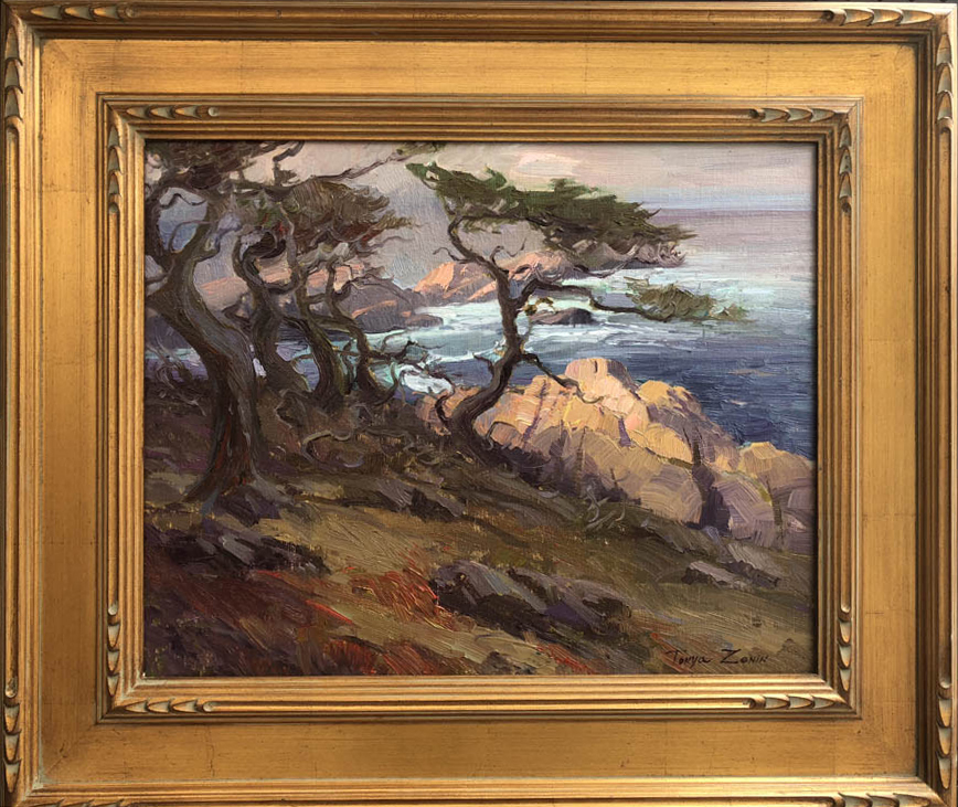 """Morning at point Lobos"", 16x20, oil on linen"