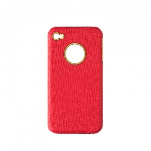 Shut Up I Love This Luxury Red Leather and Gold iPhone Case