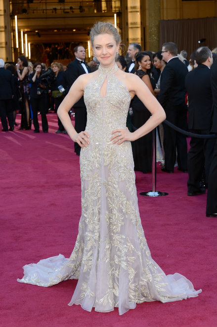 Partly Sunny Oscar Best Dressed Amanda Seyfried Alexander McQueen