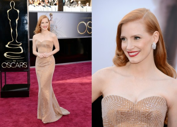 Partly Sunny Oscars Best Dressed Jessica Chastain Giorgio Armani
