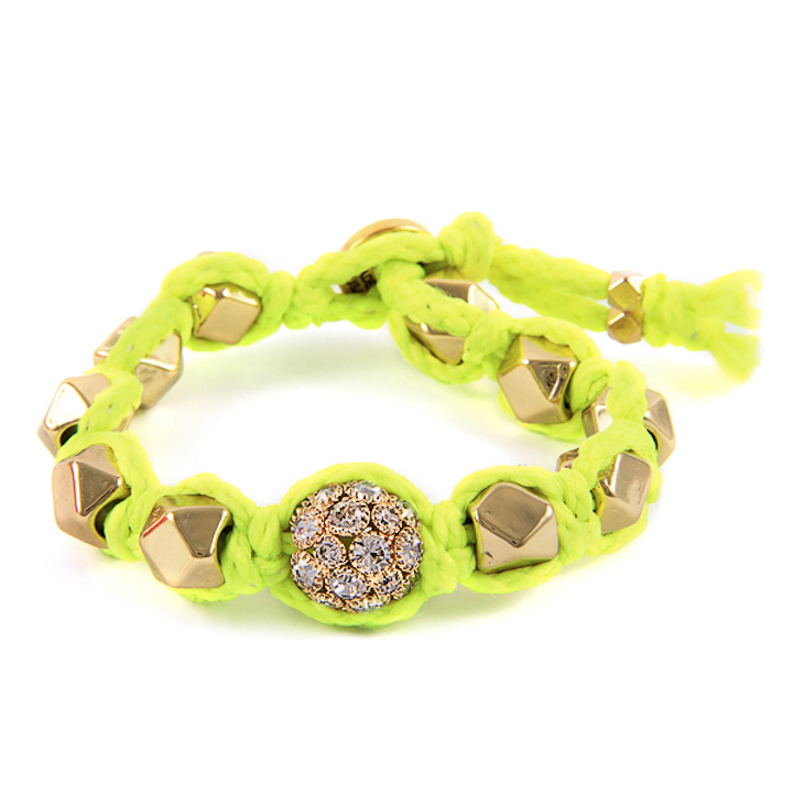 Shut Up I Love This Ettika Neon Yellow Gold Faceted Bead Bracelet