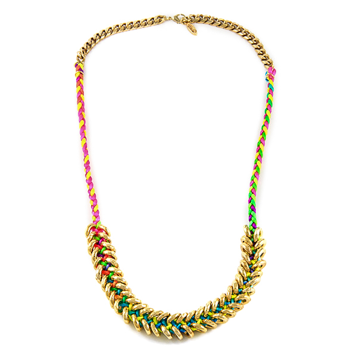 Shut Up I Love This Ettika Neon Braided Gold Donut Necklace
