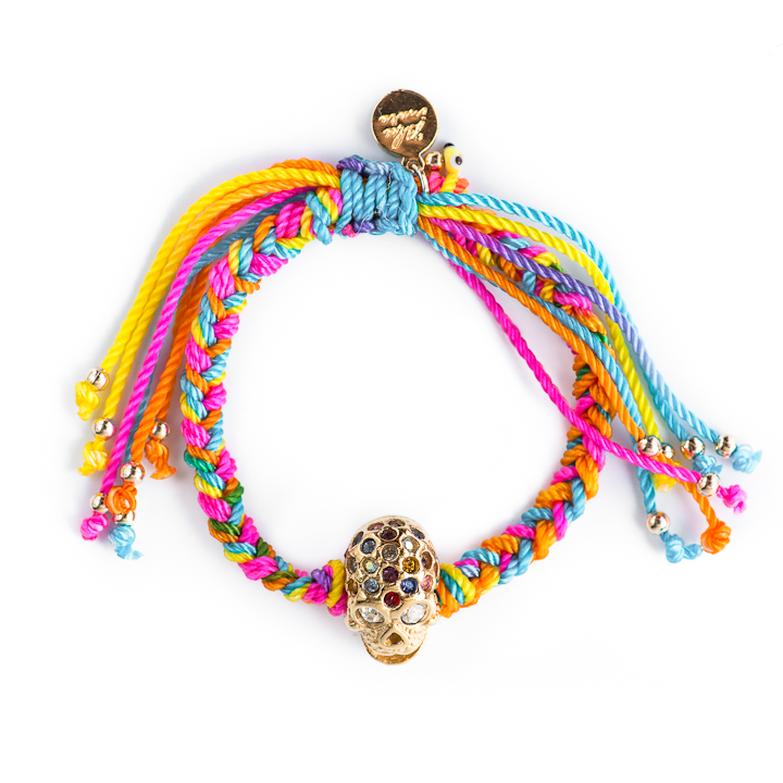 Shut Up I Love This Blee Inara Multi Strand Macrame Skull Bracelet