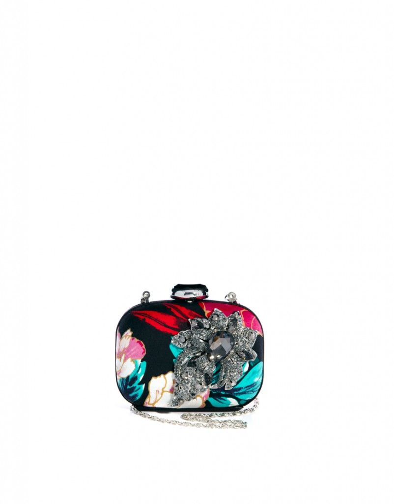 Partly Sunny River Island Oriental Print Clutch