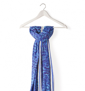Partly Sunny Zara Home Blue Leaves Scarf