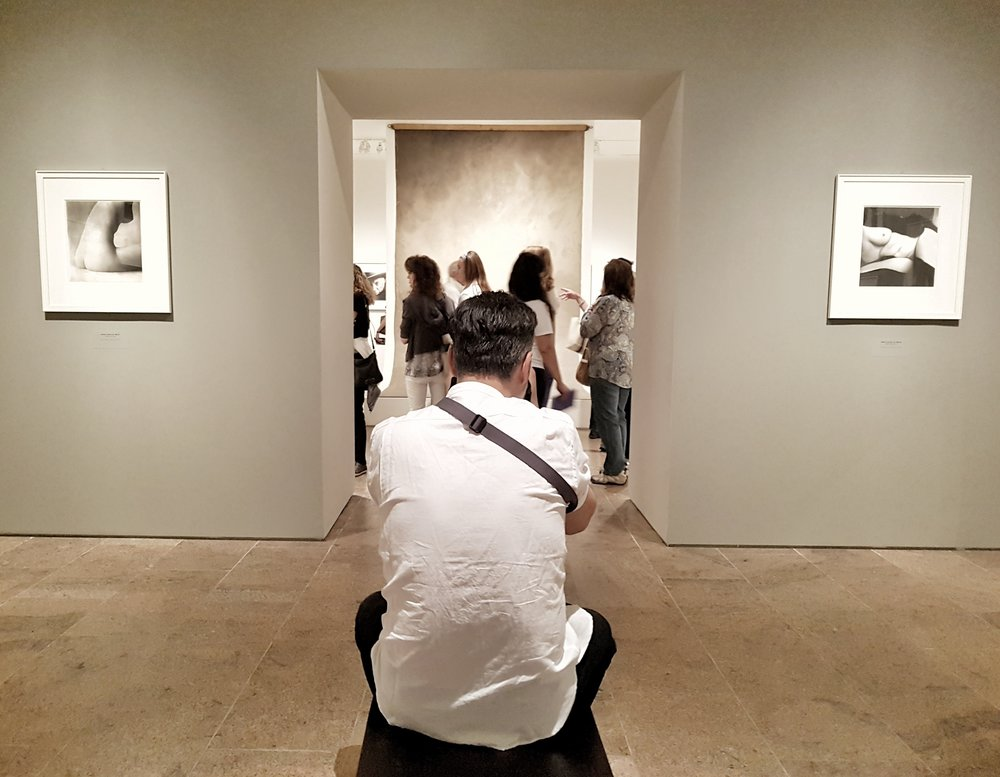 Me taking a photo of him taking a photo of Irving Penn's famous back drop.