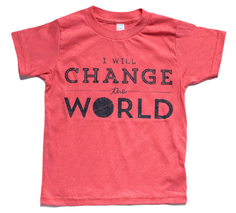 """CHANGE THE WORLD"" ORGANIC TEE"