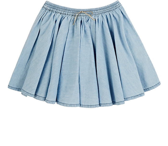 EMILE ET IDA Chambray Skirt