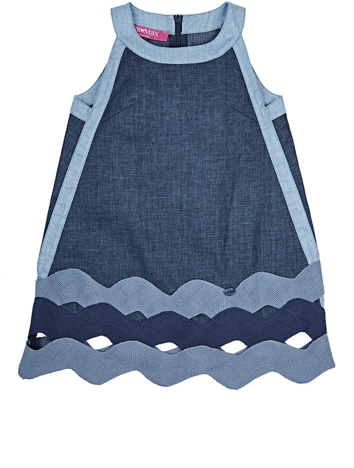 VAL & MAX  Denim Sleeveless Dress