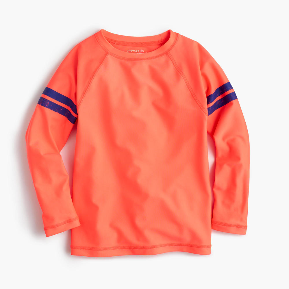 JCREW Boys Rash Guard In Double Stripe
