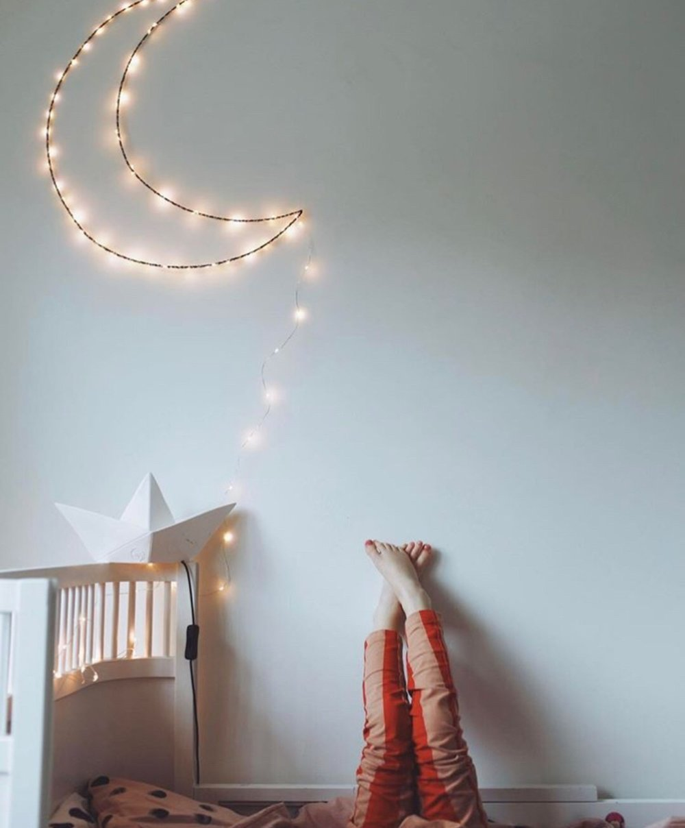 Most children need a night-light in their room to feel safe and secure at bedtime. - Bedtime is a significant transition for children that can evoke feelings of uncertainty and separation anxiety. (Monsters in the closet anyone?)Therefore, it is important to design a bedroom your child loves to help them during these feelings of separation.Alescia Ford-Lanza MS OTR/L, ATPsuggests that parents consider all the elements in a child's bedroom design as a way to offer them emotional support and security while encouraging growth and social exploration.Since the fear of the dark is one of the most common experiences children have, Alescia recommends that you let your child choose a nightlight that makes them feel happy, safe, and secure.We love these night lights by Zoe Rumeau, a Parisian artist who has made a series of handmade designs for children in the shape of stars, clouds, hearts, skateboards and more. Her whimsical night lights will look chic in a child's bedroom and will be something that they can keep forever.