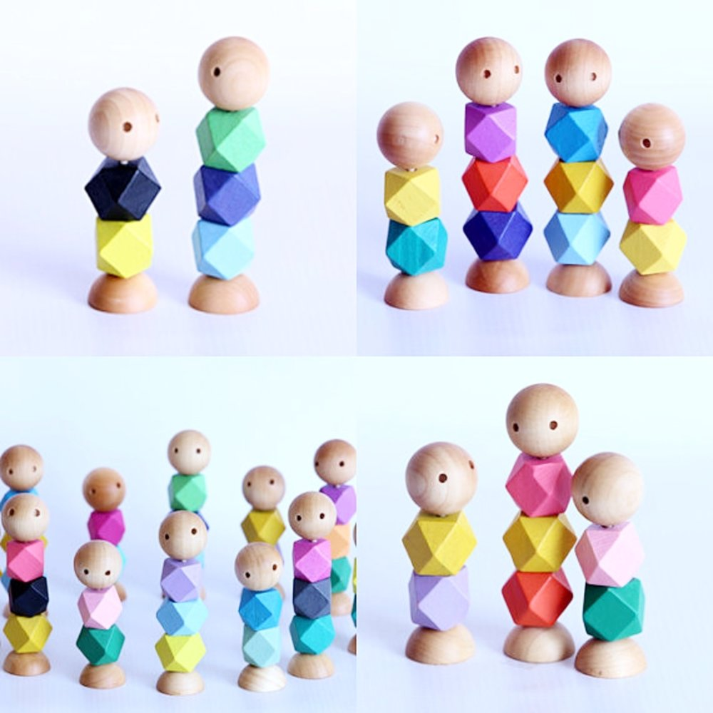 Little Wooden People $12.00 - Eco Friendly, Waldorf Inspired, Special Education Relaxation Tool.