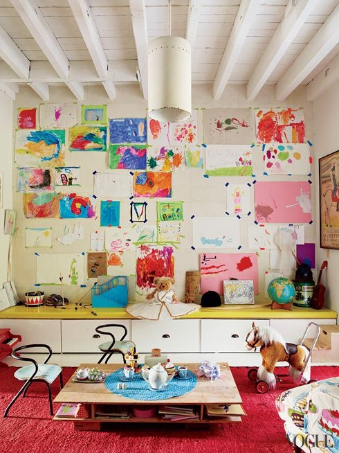 ideas to hang your child's art