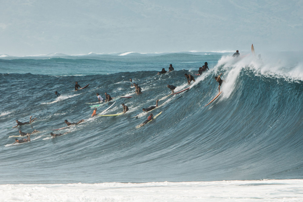 North Shore big wave riders