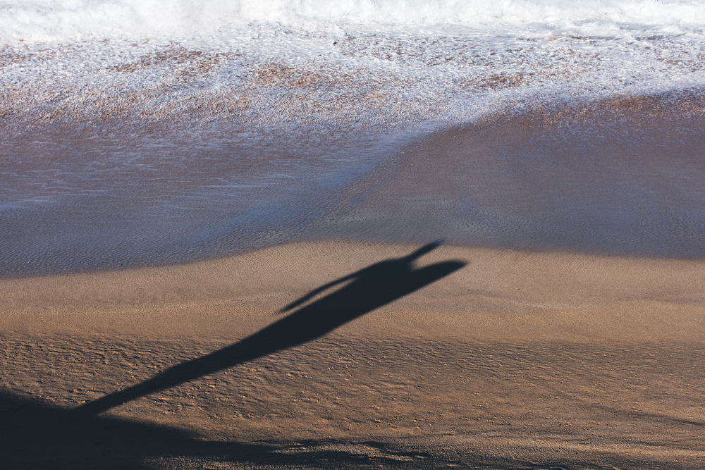Surfers shadow