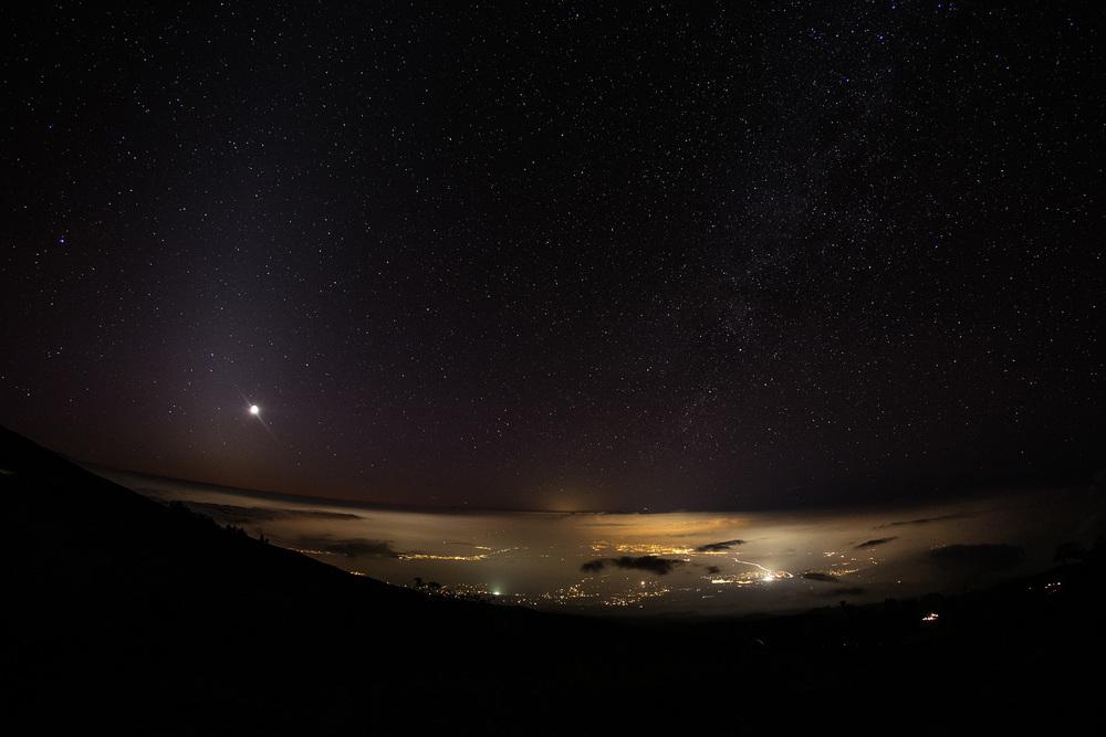 Haleakalā at night