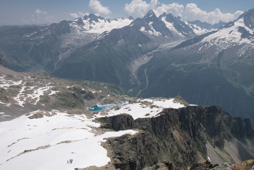 Lac Blanc from Crochues.