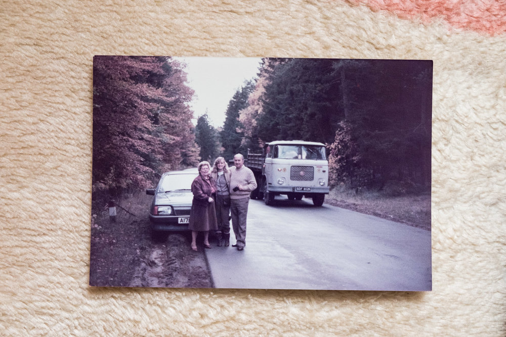 Mum, Nana and Dziadek on their way to the farm (Dad was taking the photo).