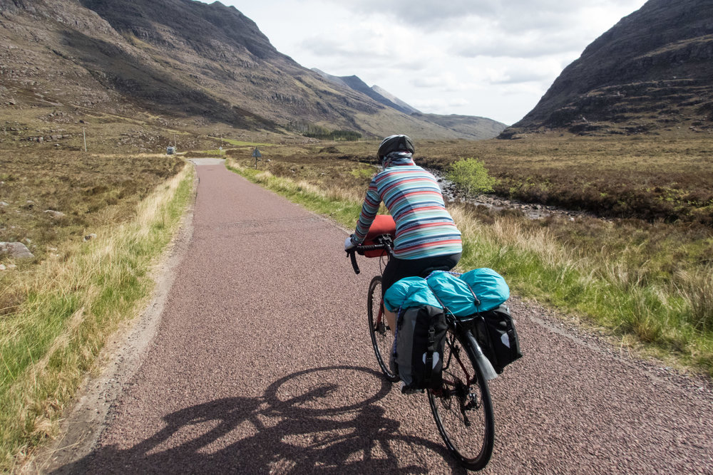 Cycling through Torridon on the NC500.