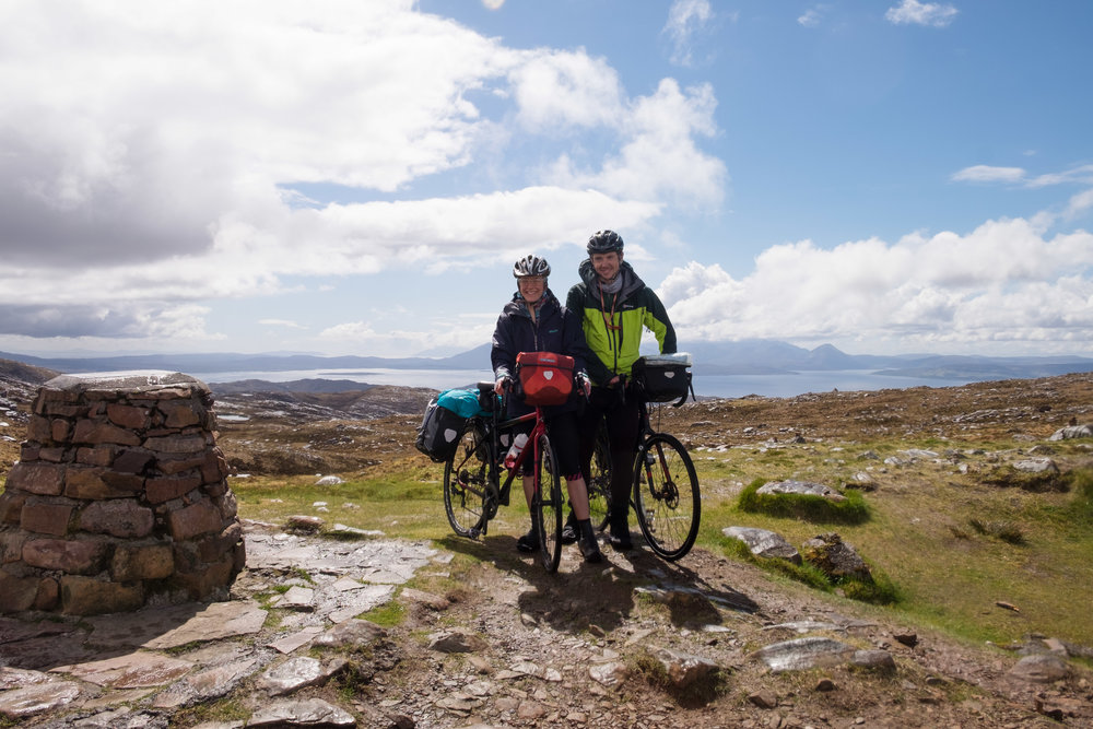 Zlatko and I at the top of Bealach Na Ba in Scotland.