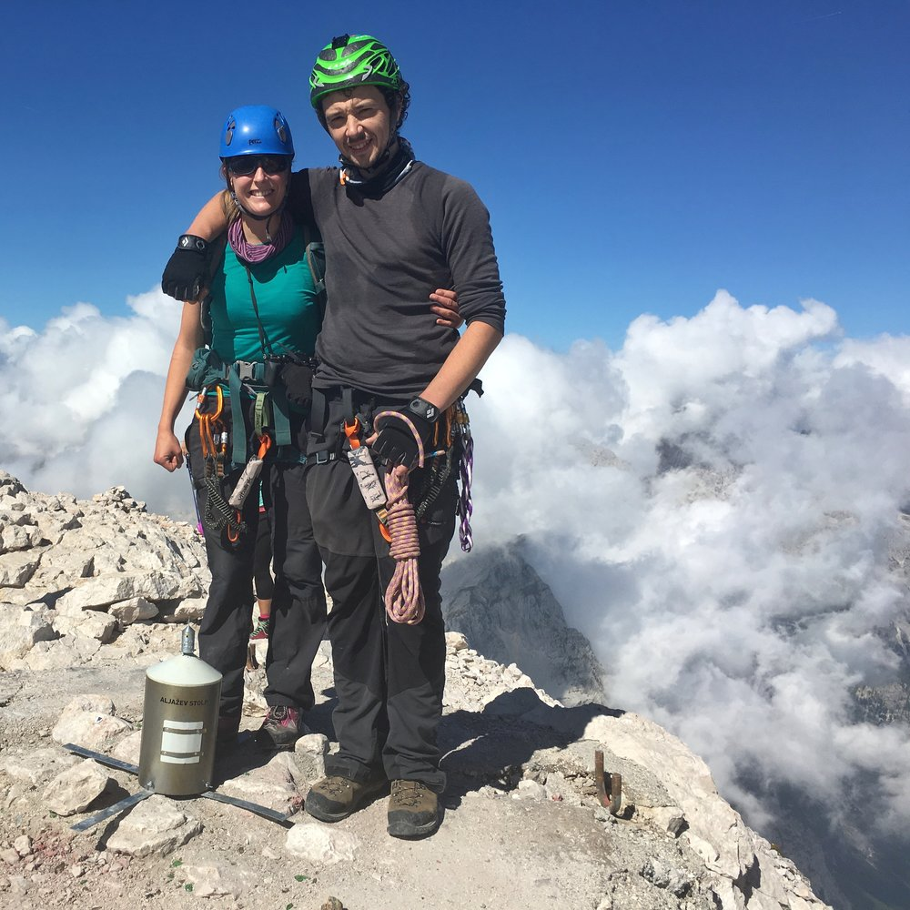 Standing on the summit of Triglav this year.