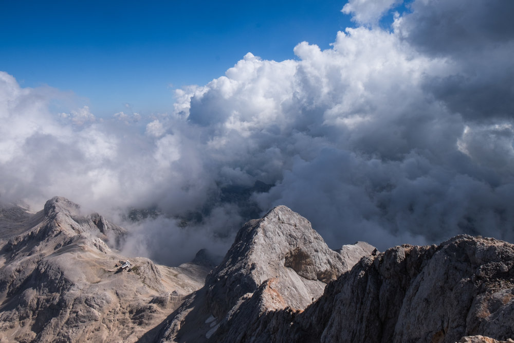 The view from Triglav's summit