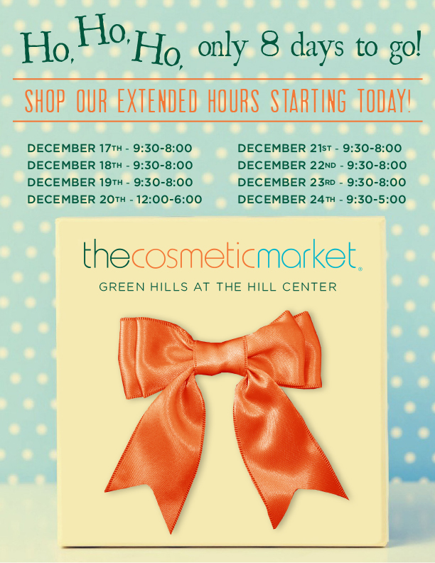 Cosmetic Market Holiday Hours