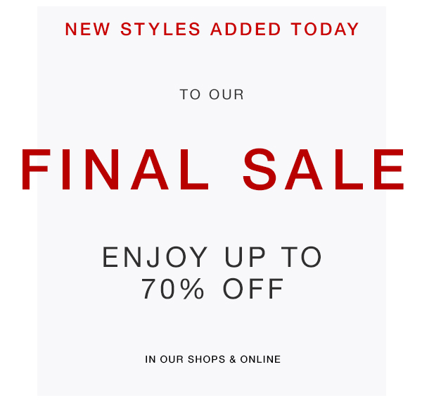Billy Reid Final Sale