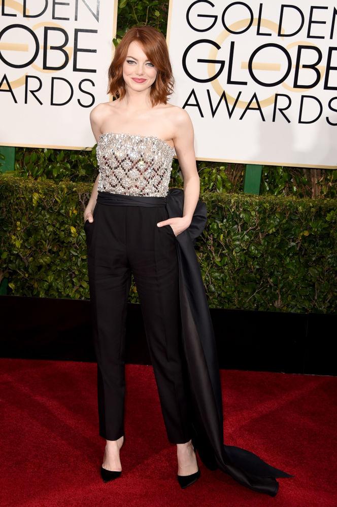 Emma Stone Lanvin Golden Globes