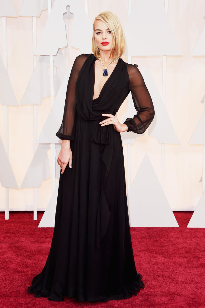 Margo Robbie_Saint Laurent_Oscars