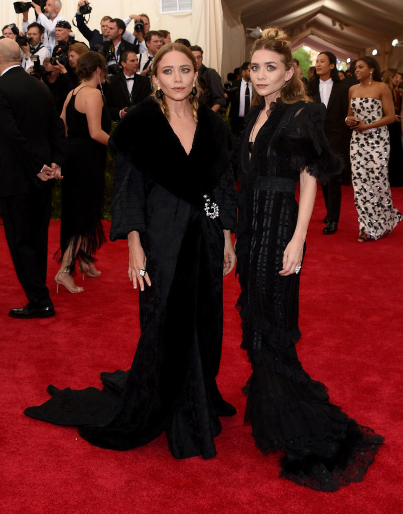 Ashley and Mary Kate Olsen Vintage John Galliano for Dior Met Gala