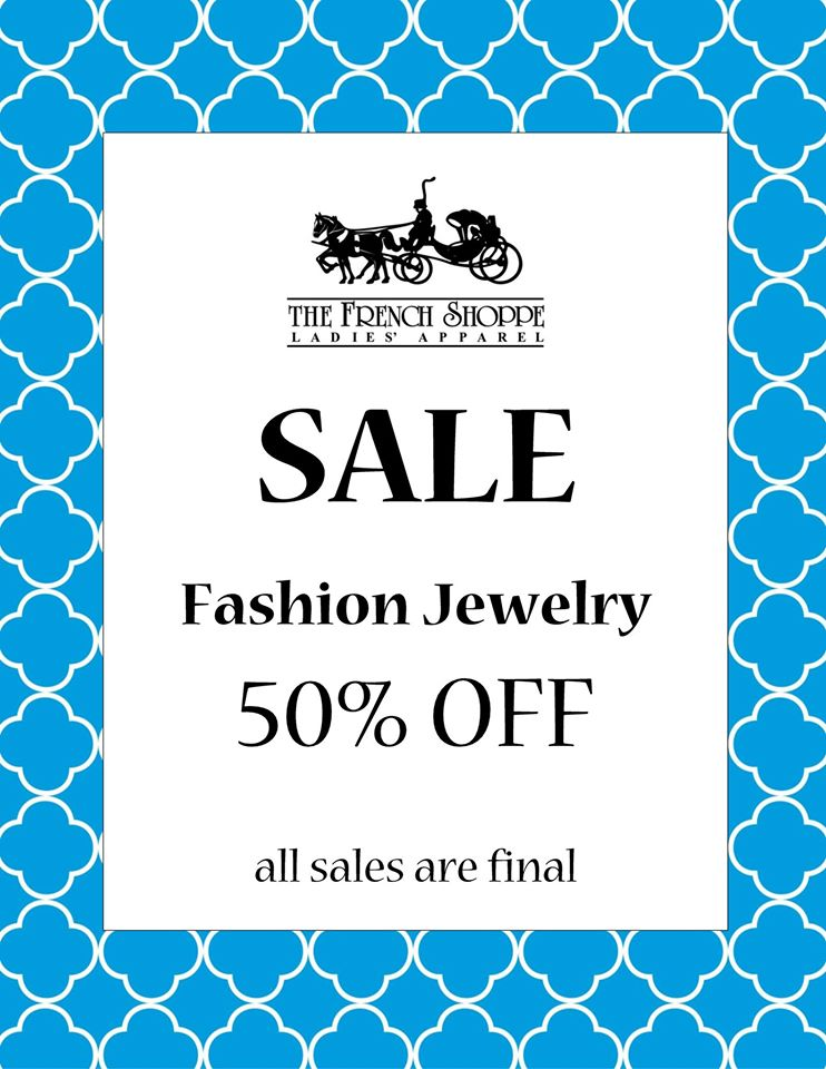 French Shoppe Jewelry Sale