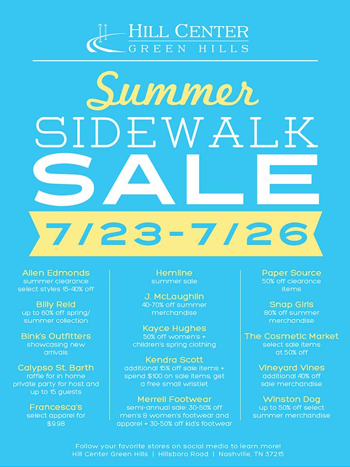 Hill Center Sidewalk Sale