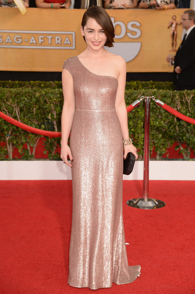 Emilia Clarke Calvin Klein SAG Awards