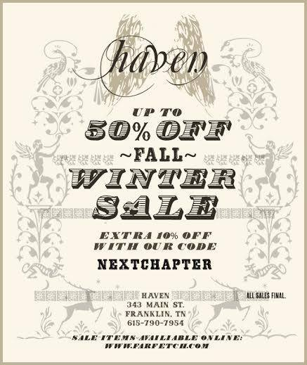Haven Winter Sale