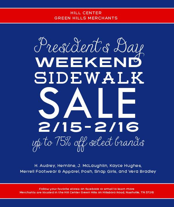 Hill Center President's Day Sale