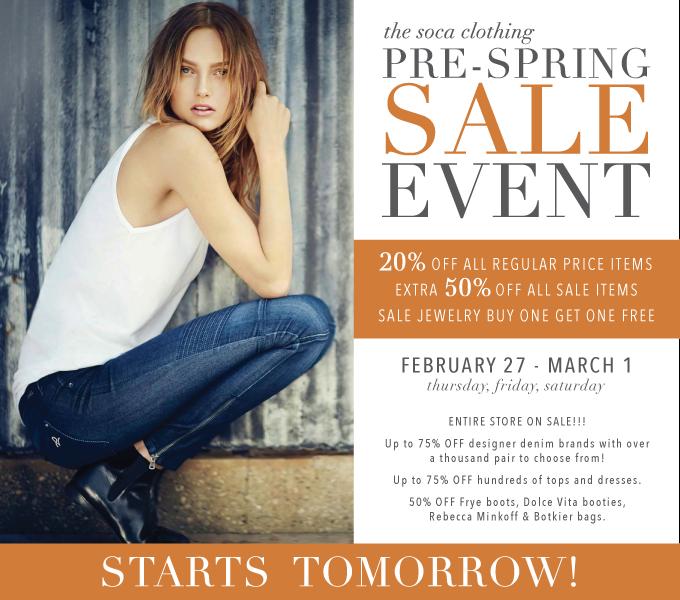 SOCA Pre Spring Sale