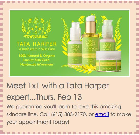 Woo Cosmetics Tata Harper Event