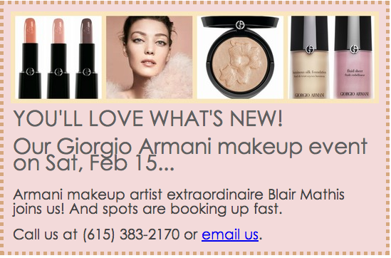 Woo Cosmetics Giorgio Armani Event