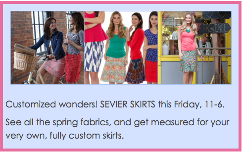 Woo Cosmetics Sevier Skirts Trunk Show