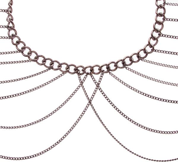 Dominique Shoulder Chain Caviar Noir