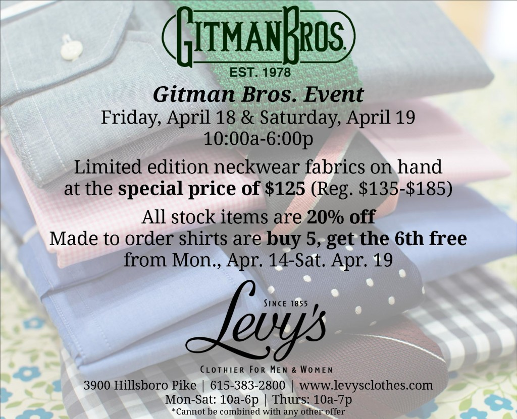 Levy's gitman-bros-event-april-2014