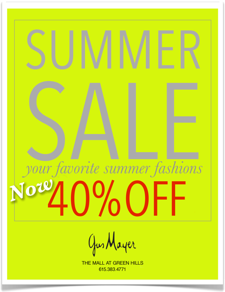 Gus Mayer Summer Sale
